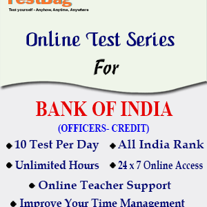 BANK OF INDIA OFFICER CREDIT