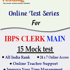 IBPS CLERK MAIN MOCK TEST