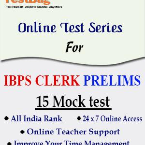 IBPS CLERK PRELIMS MOCK TEST