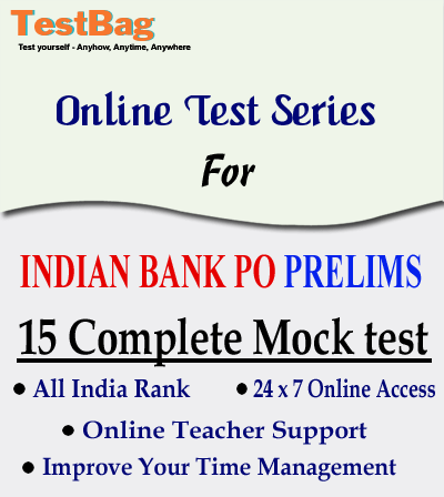 INDIAN BANK PO PRELIMS MOCK TEST