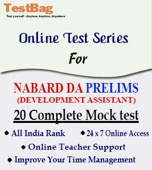 NABARD DEVELOPMENT ASSISTANTS PRELIMS MOCK TEST