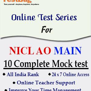 NICL AO MAINS MOCK TEST