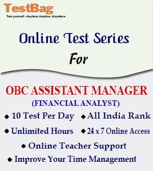 OBC ASSISTANT MANAGER FA