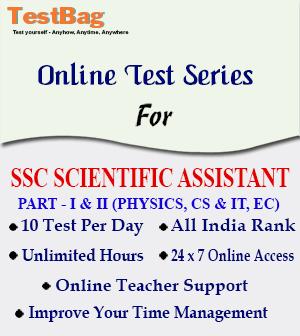 SSC SCIENTIFIC ASSISTANT