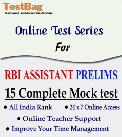 RBI-ASSISTANT PRELIMS MOCK TEST